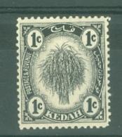 Malaya - Kedah: 1938/40   Sheaf Of Rice     SG68a    1c   [Type II]   MH - Kedah