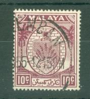 Malaya - Kedah: 1950/55   Sheaf Of Rice     SG82    10c   Used - Kedah