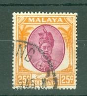 Malaya - Kedah: 1950/55   Sultan Badlishah     SG85    25c   Used - Kedah