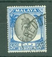 Malaya - Kedah: 1950/55   Sultan Badlishah     SG87    50c   Used - Kedah