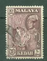 Malaya - Kedah: 1959/62   Sultan Abdul Halim Shah - Pictorial     SG109a    10c  Deep Maroon   Used - Kedah