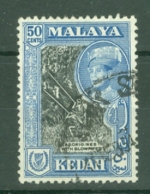 Malaya - Kedah: 1959/62   Sultan Abdul Halim Shah - Pictorial     SG111a    50c   [Perf: 12½ X 13] Used - Kedah