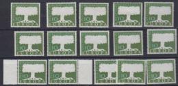 """Europa Cept 1957 Germany 10Pf """"Wasserzeichen"""" (15x) ** Mnh (44977) - 1957"""