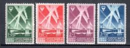 Yugoslavia 1938 Mi 354-357 MLH - Unused Stamps