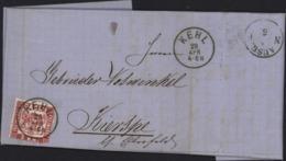Allemagne Ancien état Grand Duché De Bade YT 17 Baden Freimarke 3kr CAD Kehl 29 Apr 4-6N 1870 Verso Cachet Ausg - Baden