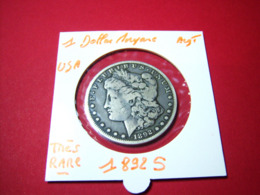 1 DOLLAR 1892 S   MORGANE ARGENT TRES RARE!!!!!!!!!!!! - Collections