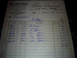 Facture Lettre à Entête Année 1938 Henri Oeuvrard Grains Farines - Frankreich