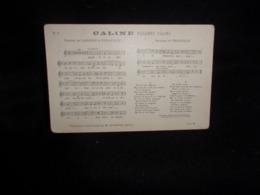 """Carte Partition. """" Caline """" Valse . Musique De Penauille   .Paroles De Labarre Et Penauille .Voir 2 Scans . - Musique Et Musiciens"""