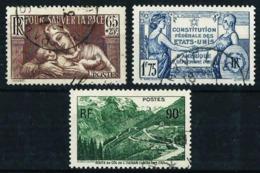 Francia Nº 356/8 Usado Cat.5,60€ - Used Stamps