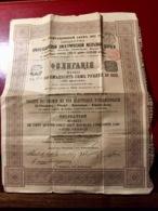 Sté  Du  CHEMIN  De  FER  ÉLECTRIQUE  D' ORANIENBAUM------Obligation  De  187,50  Roubles - Russie