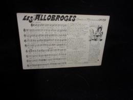 """Carte Partition. """" Les Allobroges   """" Paroles Et Musique De J . Desaix. Voir 2 Scans . - Musique Et Musiciens"""
