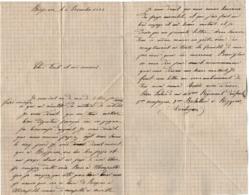 VP15.828 - MILITARIA - BERGERAC 1889 - Lettre Du Soldat Pierre LABORDE Au 108 ème Rgt D'Infanterie - Documents