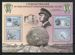 TAAF 2005 Bloc N° 13 ** ( 431/434 ) Neuf MNH Superbe C 8 € Richert Cartes Richert Kerguelen Crozet Terre Adélie - Blokken & Velletjes