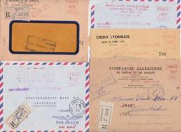 Tunisie Tunis Lot De 5 Enveloppes Recommandées EMA Banque Crédit Lyonnais Foncier Société Générale Amsterdam 1955/59 - Tunisia (1956-...)