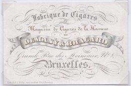 Carte Porcelaine-porseleinkaart - Demasy & Bragard - Fabrique De Cigares - Belgique