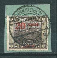 Saar MiNr. 74 Vollstempel, Abart  (r10) - Gebraucht