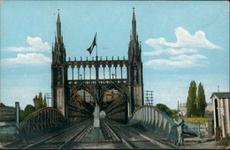 Kehl (Rhein) Rhein Eisenbahnbrücke Pont Du Rhin Chemin De Fer 1910 Goldrand - Kehl