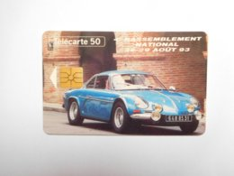 Télécarte Privée 50U , En712 ; CAR Occitan , Alpine A110 Berlinette , Cote : 20 Euros - France