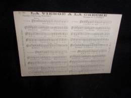 """Carte Partition. """" La Vierge à La Crèche"""" Musique De Clérice. Paroles De Daudet .Voir 2 Scans . - Musique Et Musiciens"""