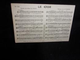 """Carte Partition. """" Le Cor """" Musique De Flégier. Paroles D' Alfred De Vigny .Voir 2 Scans . - Musique Et Musiciens"""