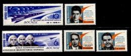 Russia 1964 Mi 2965-2969  MNH **  Space - 1923-1991 USSR