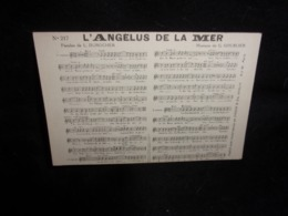 """Carte Partition. """" L' Angélus De La Mer """" Musique De Goublier . Paroles De Durocher .Voir 2 Scans . - Musique Et Musiciens"""