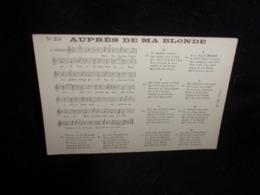 """Carte Partition. """" Auprès De Ma Blonde """" Voir 2 Scans . - Musique Et Musiciens"""