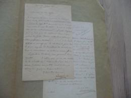 Longpérier Henri Antiquaire à Paris Membre De L'Institut 2 LAS Signée 1876 Correspondance Professionnelle - Autógrafos