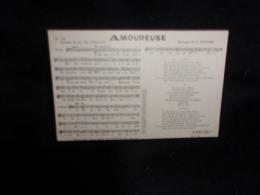 """Carte Partition. """" Amoureuse  """" Musique De Berger. Paroles De M . De Féraudy. Voir 2 Scans . - Musique Et Musiciens"""