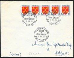 Francia/France. Stemma Regionale, Regional Coat Of Arms, Armoiries Régional - Briefe U. Dokumente