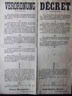 AFFICHE #6 GRAND QUARTIER GENERAL 1915 OCCUPATION ARMEE ALLEMANDE INTERDICTION APPAREIL PHOTOGRAPHIQUE - 1914-18