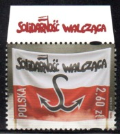 POLAND 2017 SOLIDARNOSC WALCZACA FIGHTING SOLIDARITY WITH VERY ATTRACTIVE TOP MARGIN RED WRITING NHM Fi 4765 - Unclassified