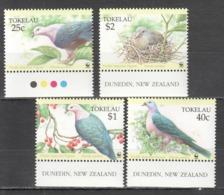 B152 TOKELAU WWF FAUNA BIRDS PIGEONS 1SET MNH - W.W.F.