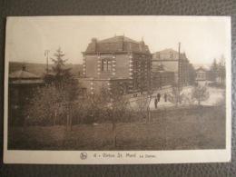 """Cpa Virton St. Mart - La Gare - La Station - Statie - Cachet """"Péril Aérien"""" - Nels - Virton"""