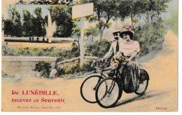 Meurthe Et Moselle De LUNEVILLE Recevez Ce Souvenir (cyclistes) - Luneville