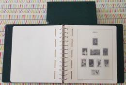 """JERSEY : 1 RELIURE  """"LEUCHTTURM"""" AVEC POCHETTES INTEGREES - PERIODE 1969 A 1992 - Albums & Bindwerk"""