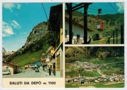 SALUTI   DA   DEPO'  M.  1100        (VIAGGIATA) - Altre Città