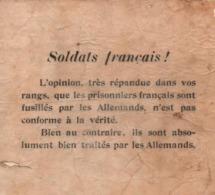 TRACT ARMEE ALLEMANDE GUERRE 1914 1918  PROPAGANDE   PRISONNIERS FUSILLES - 1914-18