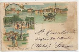 Pionniere Litho Saluti Da Venezia  Kunzli  Zurich 88 Mauvais Etat à Droite - Venezia (Venice)