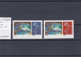 Timbres Personnalisés Adhésifs NOUVELLE CALEDONIE N°1313 Et 1314 Avec Logo Cagou . Rares . Petits Tirages - Unused Stamps