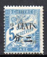Col17  Colonie Chine Taxe N° 20 Neuf X MH Cote  3,00€ - Chine (1894-1922)