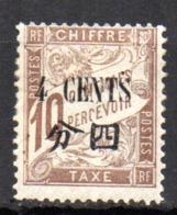Col17  Colonie Chine Taxe N° 21 Neuf X MH Cote  3,00€ - Chine (1894-1922)