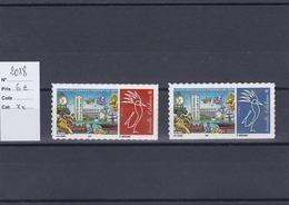Timbres Personnalisés Adhésifs NOUVELLE CALEDONIE De 2018 Avec Logo Cagou . Rares . Petits Tirages - Unused Stamps