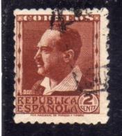 SPAIN ESPAÑA SPAGNA 1931 1934 BLASCO IBANEZ CENT. 2c USED USATO OBLITERE' - 1931-Aujourd'hui: II. République - ....Juan Carlos I