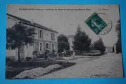 CPA 55 NUBECOURT Rue De La Gare  1912 RARE ET TRÈS ANIMÉE -  ATTELAGE & VOITURE Canton DIEUE SUR MEUSE - France