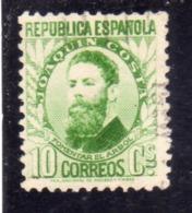 SPAIN ESPAÑA SPAGNA 1931 1932 JOAQUIN COSTA CENT. 10c USED USATO OBLITERE' - 1931-Tegenwoordig: 2de Rep. - ...Juan Carlos I