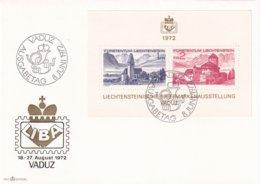 LIechtenstein 1972, FDC With S/s Miblock 9 - FDC