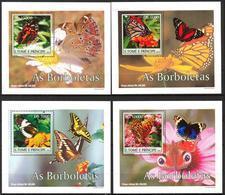 A{016} Sao Tome & Principe 2004 Butterflies 4 S/S Deluxe MNH** - São Tomé Und Príncipe