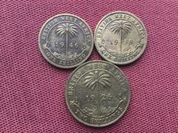 BRITISH WEST AFRICA LOT DE 3 Monnaies - Kolonies