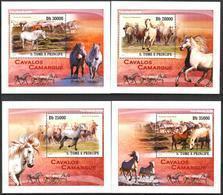 A{020} Sao Tome & Principe 2010 Horses 4 S/S Deluxe MNH** - São Tomé Und Príncipe